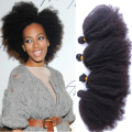 Mongolian Kinky Curly Hair 4Pcs/Lot Unprocessed Human Afro Kinky Curly Virgin Hair Extensions 55G/Pc Rosaqueen Hair Products