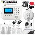 Teclado LCD GSM PSTN SMS Wireless Home sistemas de Alarma de la Casa inteligente auto Seguridad kit Sistema de Alarma de Ladrón de La Puerta + WIFI cámara