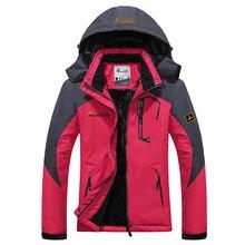 2016 Women Winter Inner Fleece Waterproof Softshell Jackets Outdoor Sport Brand Coats Hiking Camping Trekking Ski Clothing MB024