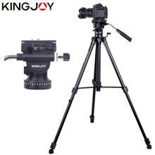 KINGJOY Oficial VT-1500 Profesional Para Todos Os Modelos de Suporte de Tripé Para Câmera De Vídeo DSLR Digital SLR Titular Stativ Móvel Flexível