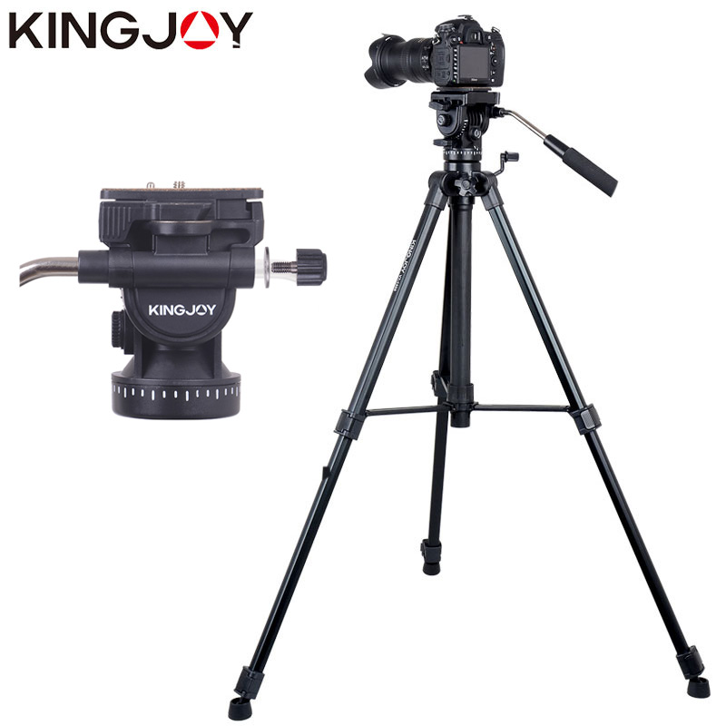 KINGJOY Official VT 1500 Tripod For font b Video b font Camera Stand Profesional For All