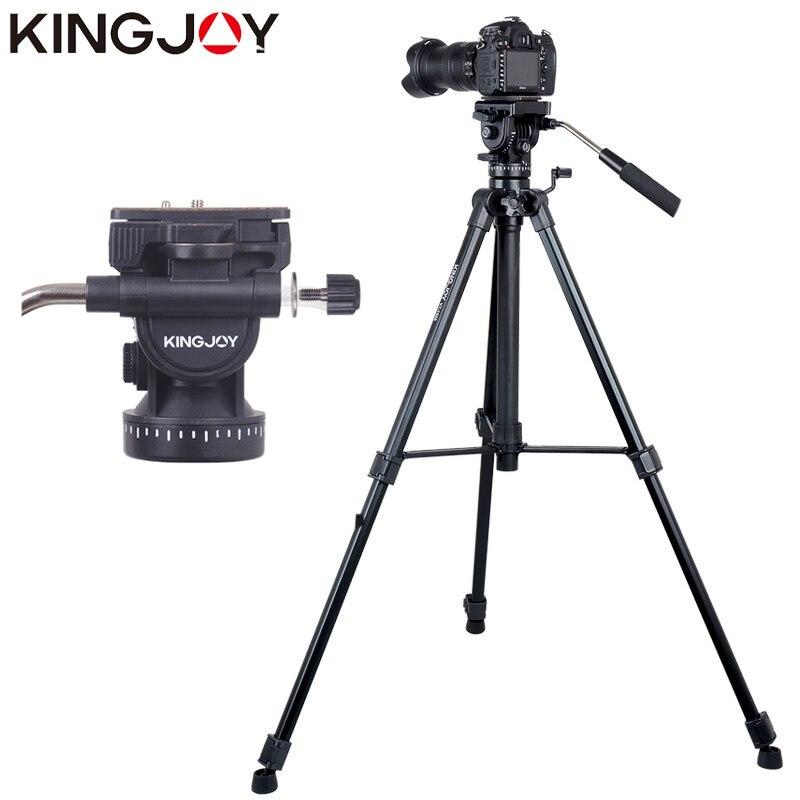 KINGJOY Official VT-1500 Tripod For Video Camera Stand Profesional For All Models Digital SLR DSLR Holder Stativ Mobile Flexible