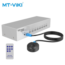 MT-Viki 8 Port VGA Switch with IR Remote Controller and Wired Extension Switcher Manual Key Press Button 350MHz1080P MT-15-8DH adjustable key press press variable attenuator 5w dc 2 5ghz 0 90db 8 key my8 10