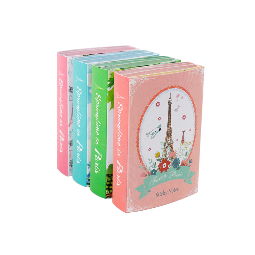 10packs /lot Kawaii Paris Tower 6 Fold Sticky Memo Pad Paper Notepad Diary Sticky Notes  Office School Stationery Gifts