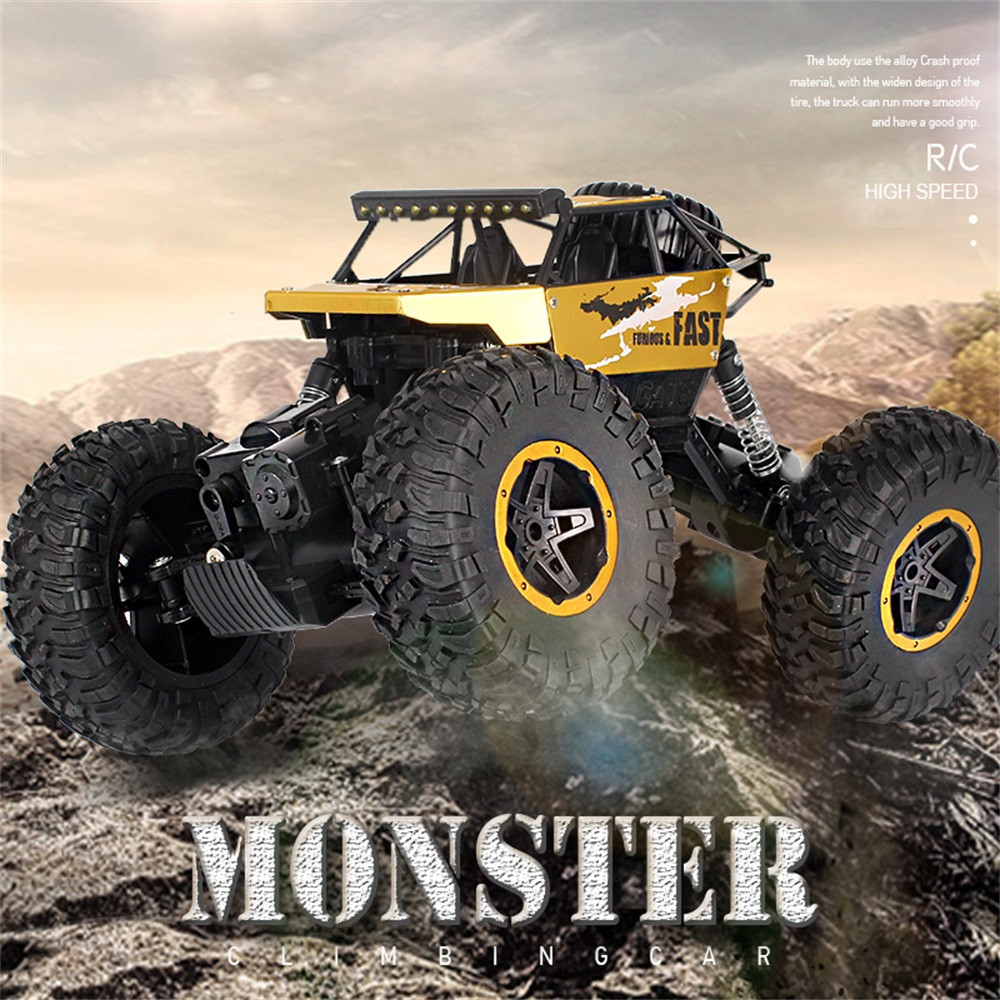 Diligent Kids Toy Car Boys Off-road Rc Climbing Car Plastic 1/18 2.4g 15km/h Alloy High Speed Monster Truck P810 Birthday Gift For Kids Can Be Repeatedly Remolded.
