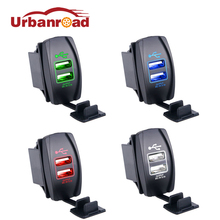 Universal Dual Usb Car Charger 3.1a Led USB Car-Charger 12 24v Output For Iphone 5S 6 6S Samsung Toyota Boat Mp3 Mp4 Toyota Boat