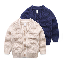 Baby sweater fall 2017 new autumn outfit han edition knitting cardigan sweater coat small children