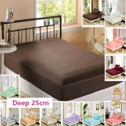 100% de seda Mulberry sábana ajustada 25cm Protector de colchón Color sólido Multi tamaño envío gratis