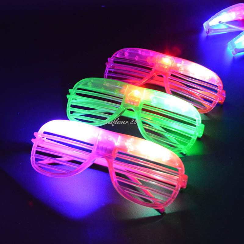 Boys Costume Accessories Motivated Children Adults Led Light Up Leaves Leaf Shutter Glasses Glowing Flashing Eye Glasses Eyewear Rave Party Dress Decor Halloween Novelty & Special Use