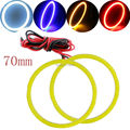 2Pieces(1pair) Auto Halo Rings COB 60 SMD 70MM Angel Eye COB Chips Car Headlight 70mm Car Angel Eyes Motorcycle White Waterproof