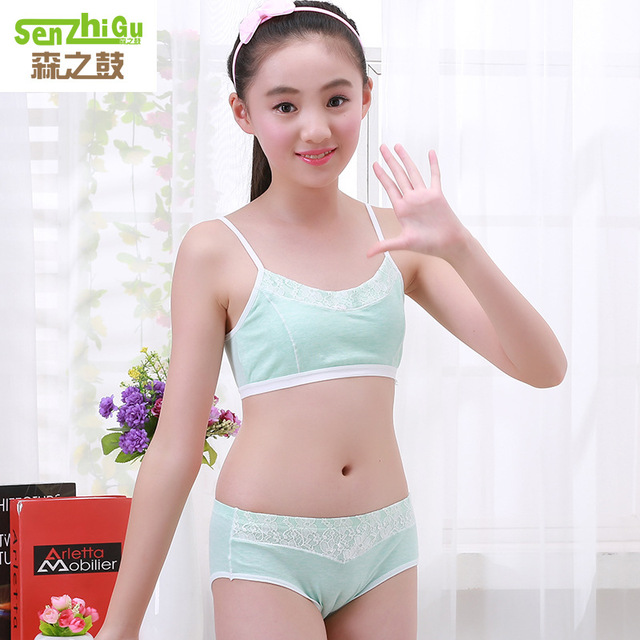 Teenage Girls Clothing Underwear Bra Brief Sets Young Girls Lingerie Panties Undies Suit Puberty