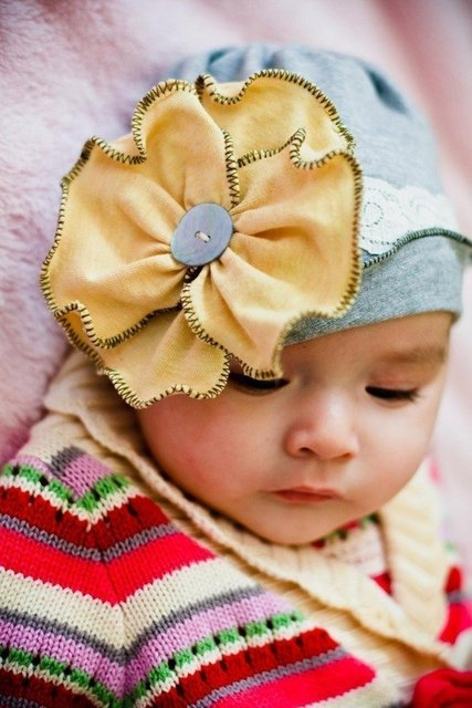 free shippig -40pcs/1lots Central park baby hat cap beanie infant toddler girls newborn headbandstock