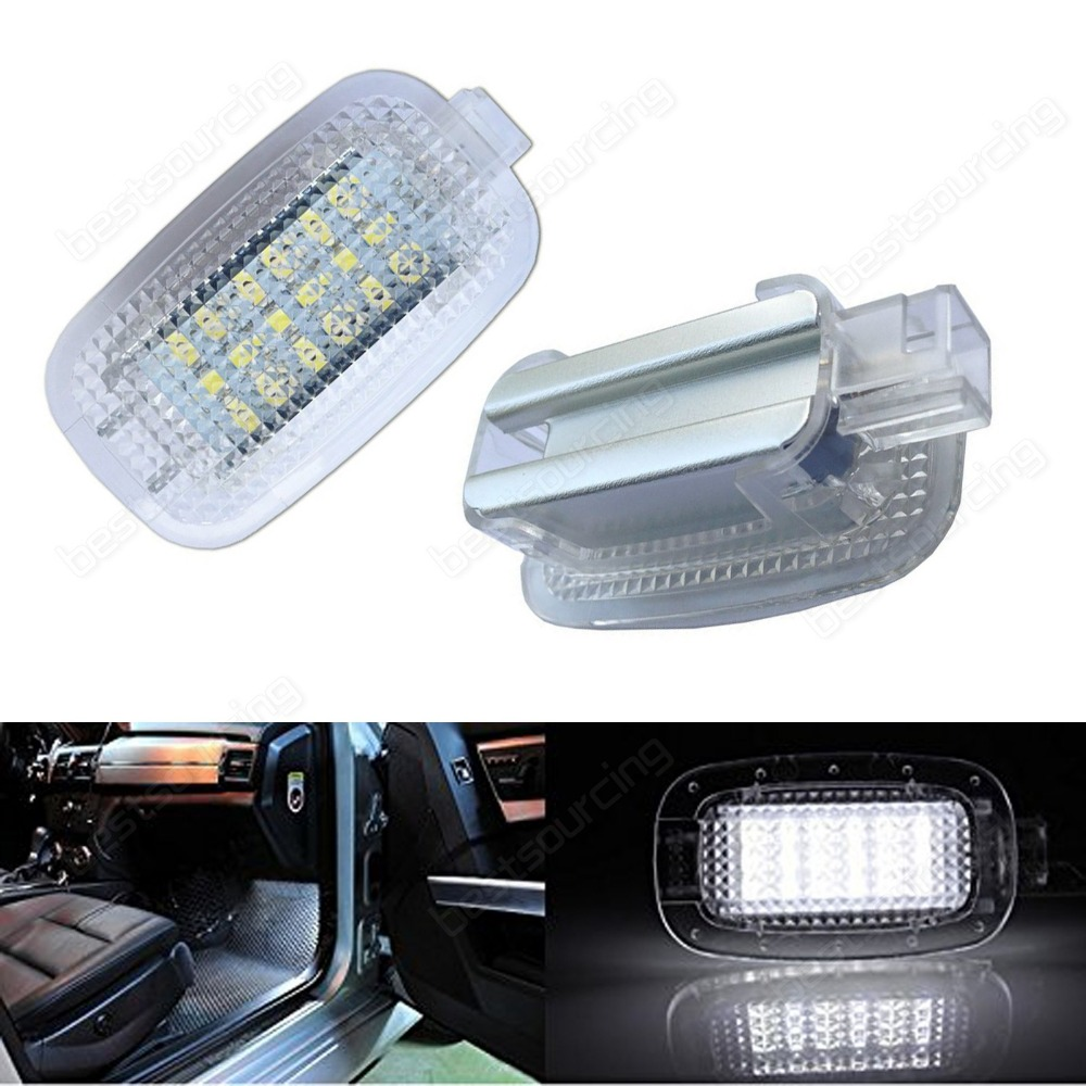 2Pcs Xenon White Canbus LED LED Courtesy Door, Glove Box,Side Door Foot Area Vanity Trunk Light For MercedesBenz(CA200)