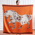 Echarpe Fashion 130*130cm 14 styles selection Large Square shawls bandanas Horse Pattern summer Sun scarf women
