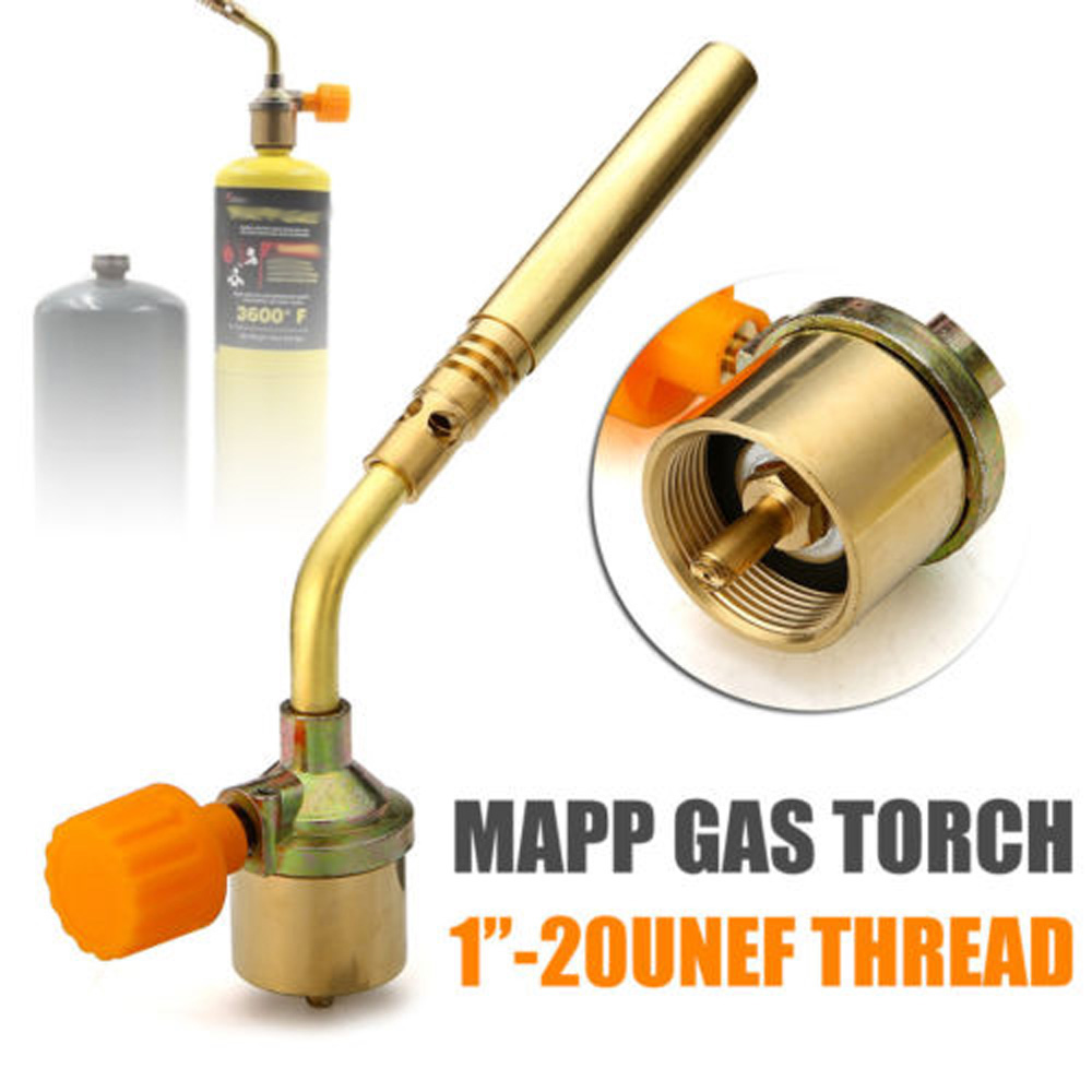 Mapp Gas Torch Brazing Self Ignition Trigger Propane Brass Welding Heating BBQ Plumbing Nozzles Jewelry Burner