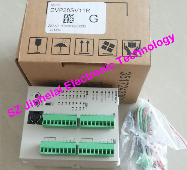 New and original  DVP28SV11R  DELTA  PLC  16DI/12DO RELAY output new original delta dvp06sn11r dc24v plc 6do relay module