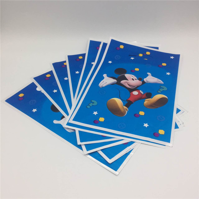 2a5d2ad37817 mickey mouse Plastic Disposable Gift Bag Birthday Party Decoration Loot  Candy Bags Kids Favors Baby Shower