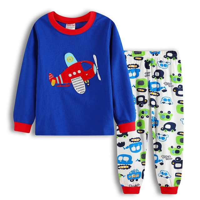 2acd00fc3 Air Plane Baby Boys Clothes Suits Children Pajamas Kids Sleepwear ...