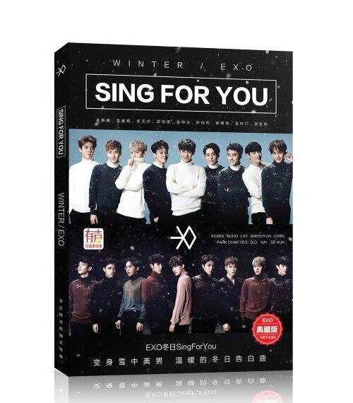 2017 exo kpop with desktop note calendar Notepad around k-pop exo table Planner Book papelaria calendar calendrier Card book M K