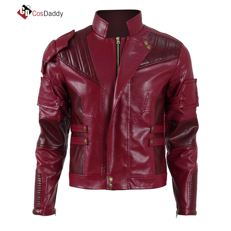 Guardians of the Galaxy Cosplay Costume Star Lord Peter Quill Red Jacket Peter Jason Quill Coat Spartoi Jackets CosDaddy