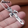 Vintage Sword pendant With Red CZ 100% 925 sterling silver gift necklace pendant women & men fashion jewelry Punk