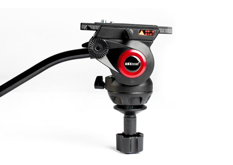 ASXMOV Alum 8KG Payload Hydraulic Tripod Head Panoramic Head For Camera Video Shooting Photography Tripod Head forum 3 alum