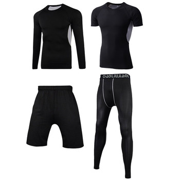 Men Sportswear Compression Sport Suits Quick Dry Running Sets Clothes Sports Joggers Training Gym Fitness Tracksuits Running Set 15