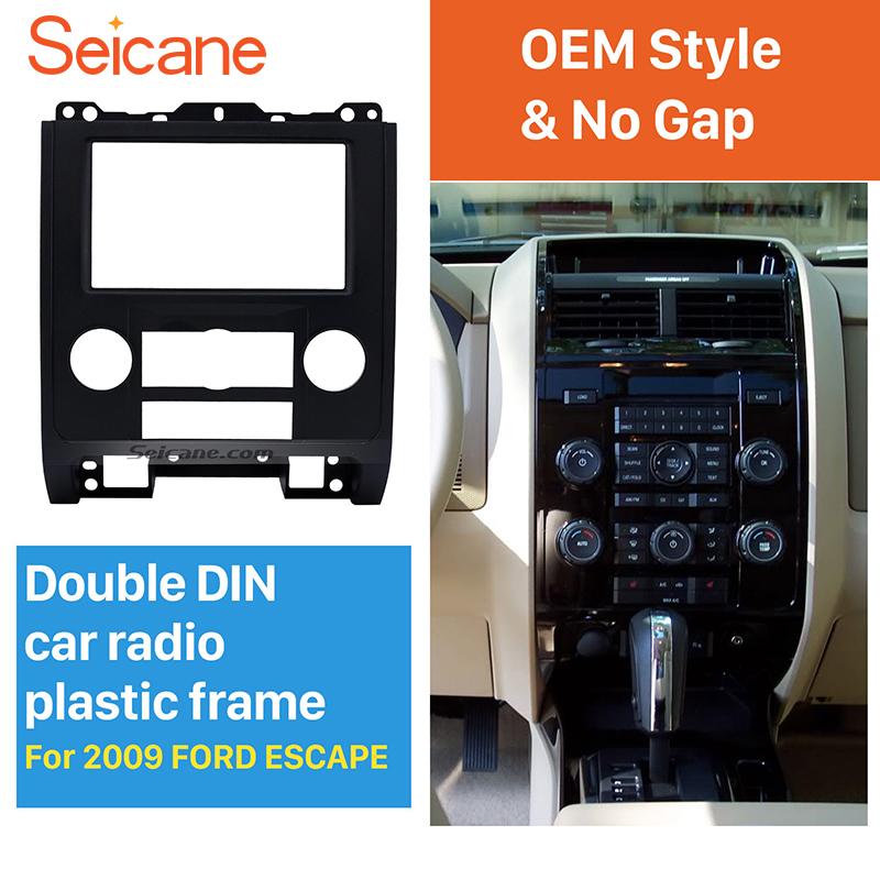 Seicane Hottest 2Din Car Radio Fascia for 2009 Ford Escape MAZDA Tribute MERCURY Mariner DVD Frame In Dash Mount Kit Trim Panel seicane exquisite 202 102 double din car radio fascia for 2009 2013 toyota avensis dvd frame in dash mount kit trim bezel