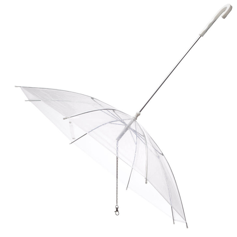 Rfwcak Original Top Transparent Pe Pet Umbrella Dog Raincoat Rain
