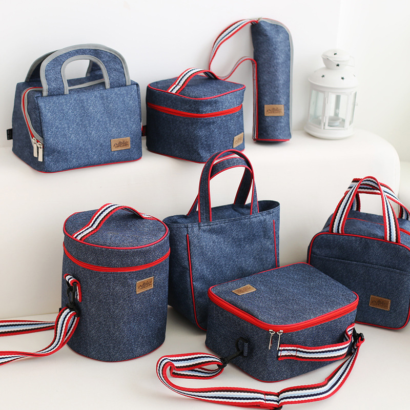 Lunch Tote Thermal Picnic Cooler Bag Milk Food Box Aluminum Foil Insulation Warm Keeping Storage Shoulder Tote Cool Bags Package