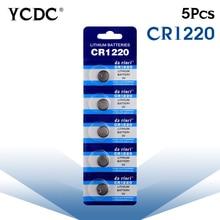 Дешевые 3 в сваи CR1220 BR1220 ECR1220 LM1220 bateria часы Кнопка монета ячеек литиевая батарея 5 шт. pilha часы батареи