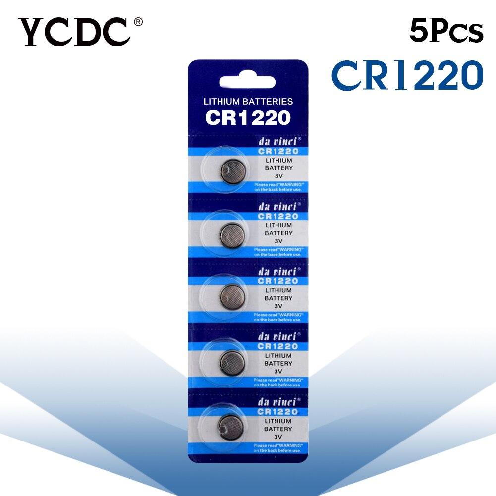 Cheap 3V Pile CR1220 BR1220 ECR1220 LM1220 Bateria Watch Button Coin Cells Lithium Battery 5 Pcs Pilha Watch Batteries