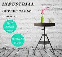 Регулируемая высота Кофе поворотный стол круглый деревянный стол стойка деревянный топ с прочным металлическим каркасом стол для паба тяж