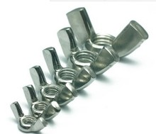 5-20pcs/lot M4/M5/M6/M8/M10/M12 stainless steel 202 wing nuts butterfly nuts thumb nuts hardware fasterners 614