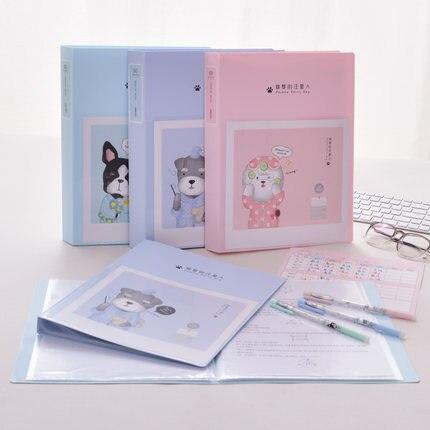 Cartoon Paper File Holders A4 Document Holder Paper Folder Pregnancy Information Book Storage Binder Office School 30/40/60page