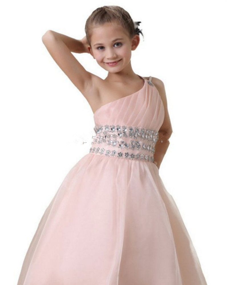 Cheap Light Pink Ball Gown Flower Girls Dresses For Wedding Party ...