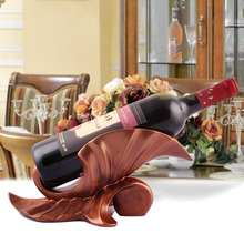 Fashion wine rack decoration quality resin wine cooler wine alcohol care rack wine rack decoration fashion quality rose household wine rack baijiu home decoration iron wine holder