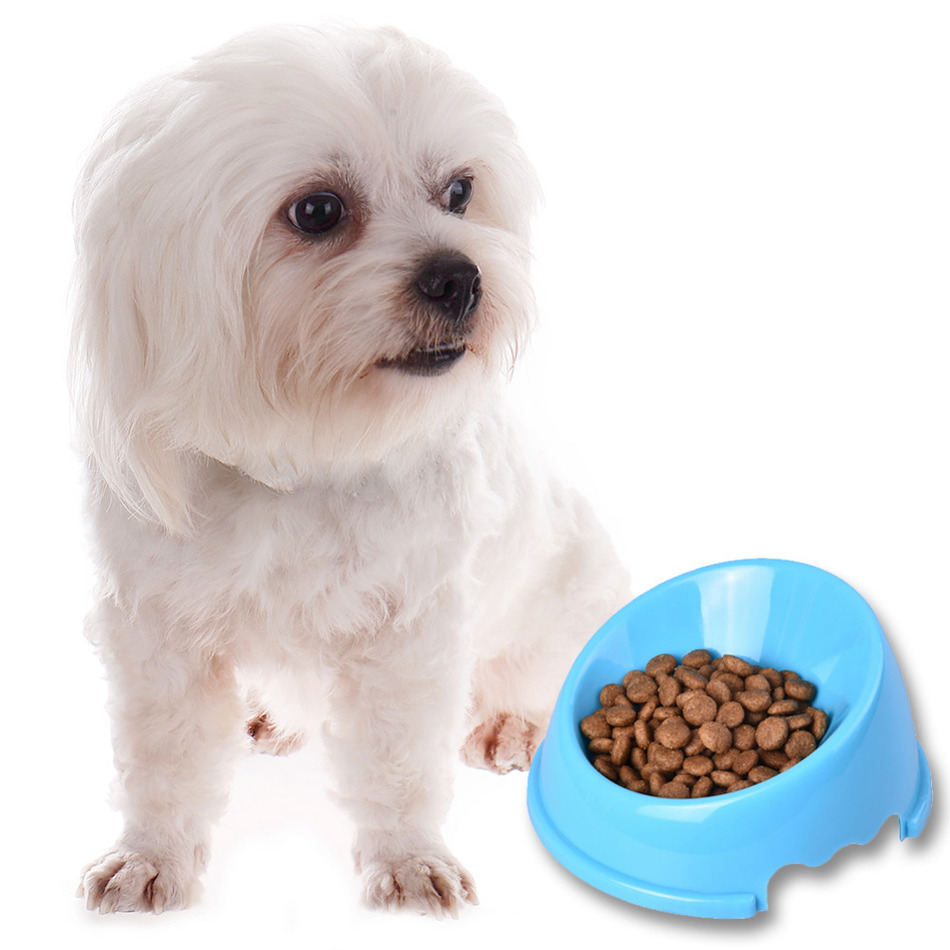 1 unids 14 * 14 * 3.5 cm Boca Oblicua Antideslizante Pet Dog Cat Food - Productos animales