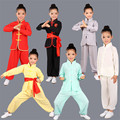 Children Wushu Clothing Girl Boy Chinese Traditional Kung Fu Uniform Kids Tai Chi Clothes for Male Tang Taiji Clothing 89