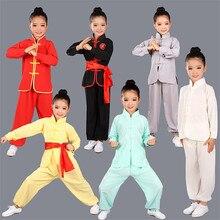 Children Wushu Clothing Girl Boy Chinese Traditional Kung Fu Uniform Kids Tai Chi Clothes for Male Tang Taiji Clothing 89
