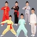 Crianças Menina Menino Roupas Wushu Tradicional Chinesa Kung Fu Uniformes Crianças Tang Roupas Taiji Tai Chi Roupas para o Sexo Masculino 89
