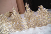 gold cord lace trim by the yard, retro scallop floral lace trim the yard
