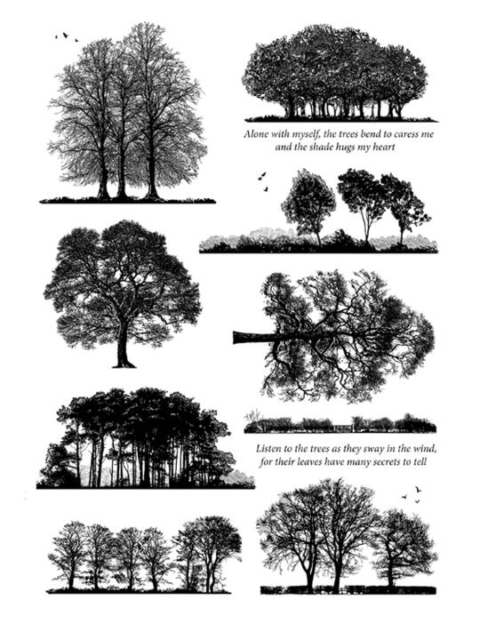 Tree Transparent Clear Silicone Stamp/seal For DIY Scrapbooking/ Album Decorative Clear Stamp Sheets A1288
