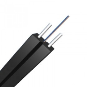 100m FTTH Drop Cable  Fiber 1core, 2core Singlemode 9/125 OS2, FRP Strength Member, LSZH Butterfly Flat Indoor  GJXFH