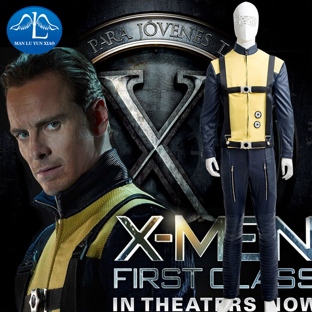 MANLUYUNXIAO New Men's X-Men: First Class Erik Lensher Cosplay Costume For Men Factory Price Hot Sale