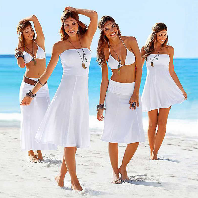 Venta al por mayor caliente 2017 partidos Bikini Convertible Multi Wears Infinite Cover Ups vestidos de playa de verano para mujeres