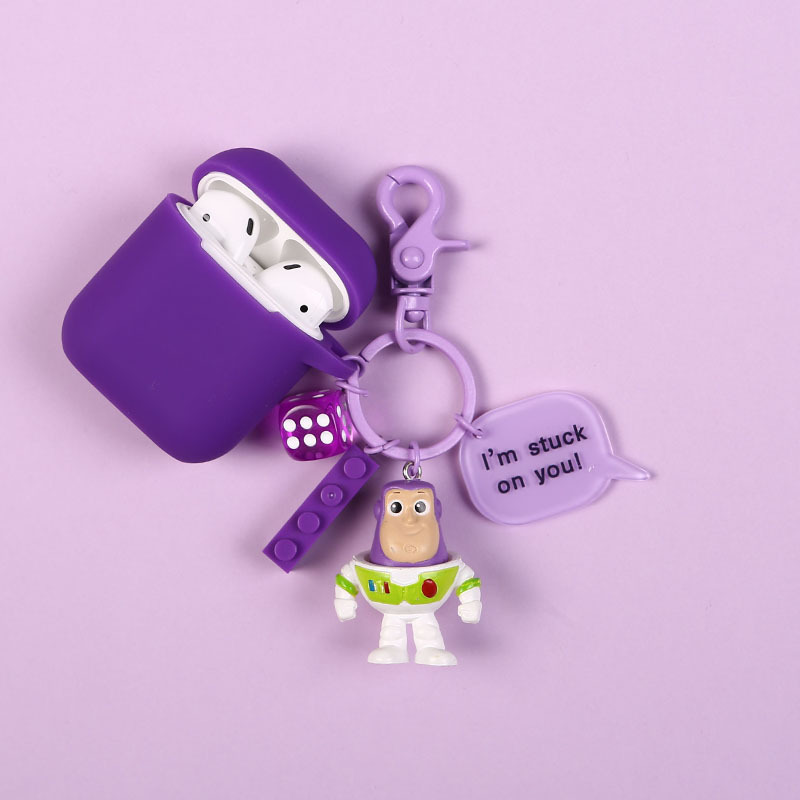 Cute Buzz Lightyear Keychain Action Figure Model Toy Story Airpods Key Ring  Kids Gifts For Women Bag Pendant Accessories