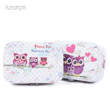 Jewelry Owl Cosmetic Box Organizer Display Travel Jewelry Case Boxes Portable Jewelry Box new arrive hot 2pc set portable jewelry box make up organizer travel makeup cosmetic organizer container suitcase cosmetic case
