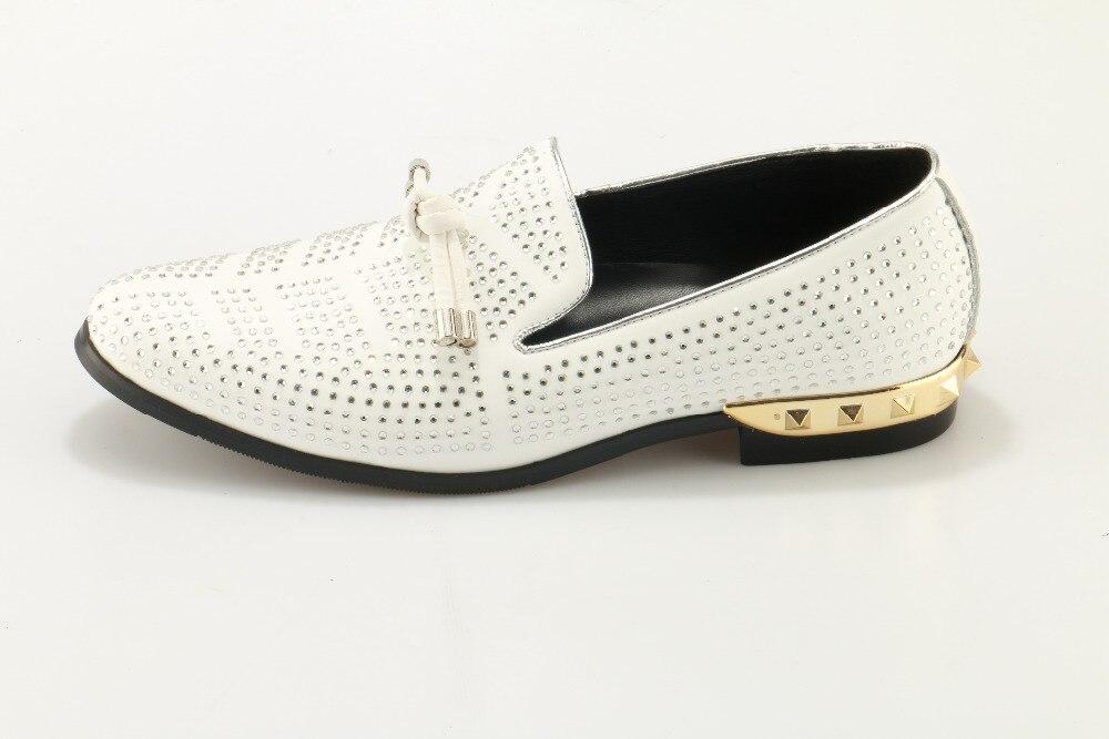 Diseñador Suede As Grande Svonces Fumar Crystal Blanco Masculino Vestido Zapatos Picture Nudo 46 Mocasines Hombres Tamaño as Pisos Novia Picture Zapatillas qXtXf1