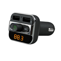 Hifi Bluetooth Handsfree Car Kit FM Transmitter Dual USB Charger Audio MP3 Player Support USB Disk